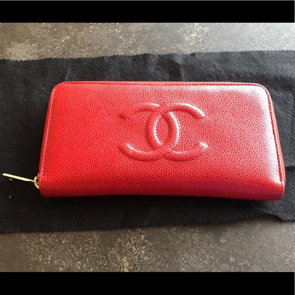 312bd5b316f5 CHANEL Bags | Caviar Large Timeless Cc Zip Around Wallet | Poshmark